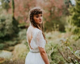 Luna organic beach wedding dress