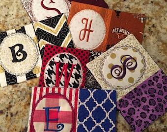 MUG RUG School Colors, Teacher Gift, Gift Exchange, Stocking Stuffer, Monogrammed Gift, Large Coaster, Holiday Gift, Secret Santa Gift