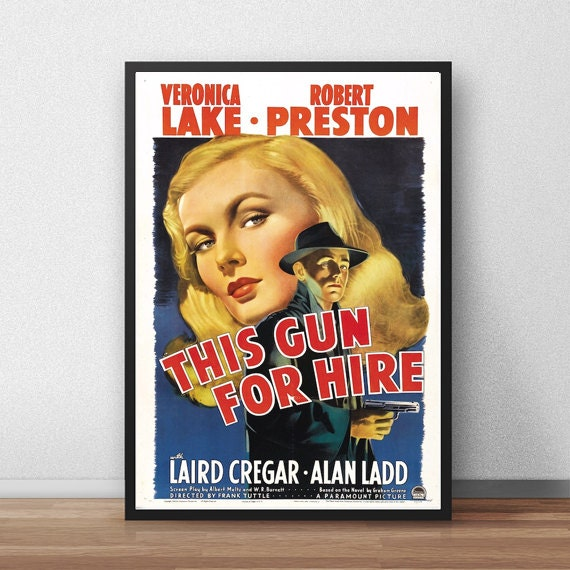 gun for hire movie poster Vintage poster 20 x 28 inch by ...