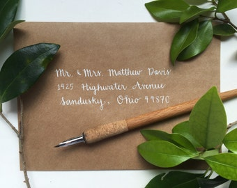 Custom Calligraphy Wedding Envelopes