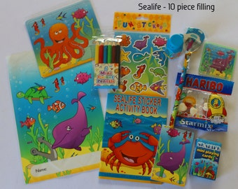 Sealife themed party bags with fillings