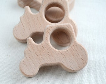 Unfinished Wooden Tractor Shape - Wooden Tractor Pendant - Unpainted Wood - Tractor Teether - Wooden Toy Tractor - Transport - boy nursery