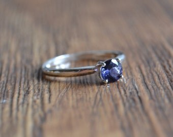 Iolite sterling silver ring