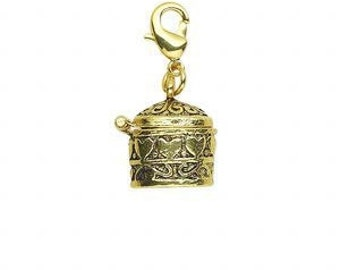 Prayer Box, Wish, Secret Locket, Treasure Chest, 14x13mm, 1 Each, D850