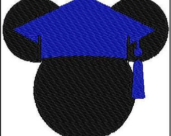 Mickey Mouse Graduation Embroidery Design