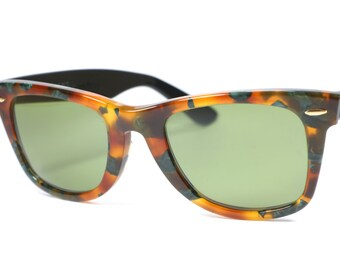 Unique Ray Ban B&L Wayfarer 5022 / multicolor tortoise frames / legendary sunglasses / made in Italy in the 80's