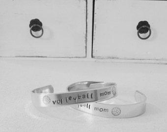 Volleyball Mom Bracelet Cuff