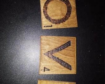 Love Scrabble Coasters
