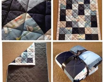 Modern Baby Boy Patchwork Quilt