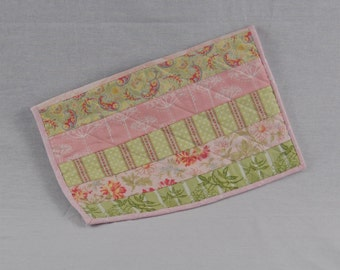 Pink & Green Quilted Laptop Case