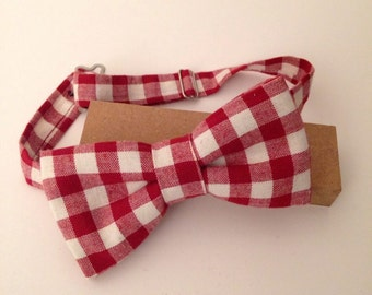bow tie pre tied gingham bowtie