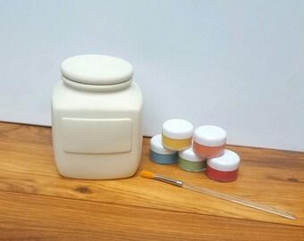Custom Biscuit Jar Biscuit Barrel Sweet Jar Lidded Jar Kitchen Container Personalised Jar Personalised Biscuit Barrel Customisable Gift