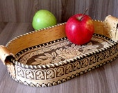Birch bark serving tray, birch bark platter, birch bark bowl for rusk, tray for biscuits, birch bark tray for crackers, wooden serving tray