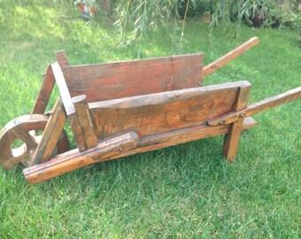 Kid wagon with one wheel for yard decor