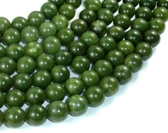 Canadian Jade Beads, 10mm Round Beads, 15.5 Inch, Full strand, Approx 39 beads, Hole 1mm, A quality (179054005)