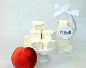 Handmade Gourmet Marshmallows - Peaches n Cream -  Marshmallow - All Natural - Limited Edition