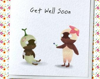 Get Well Soon Mandragora Card - Final Fantasy Themed