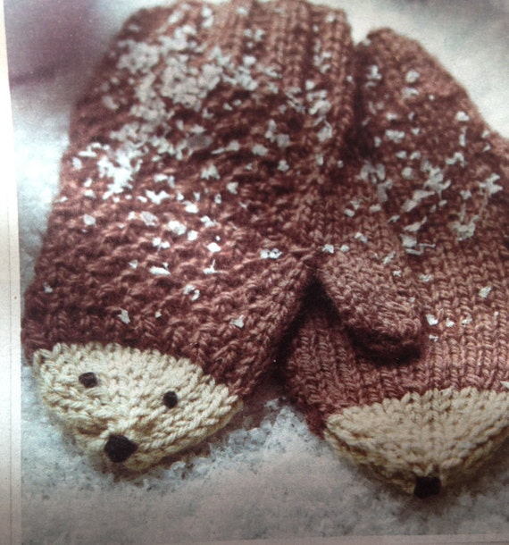 Knitting Pattern Hedgehog Mittens : Childrens Hedgehog Mittens Knitting Pattern