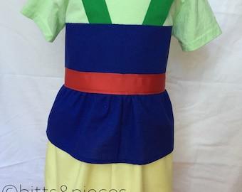 Mulan-inspired Comfy T-Shirt Dress sizes 2, 3, 4, 5