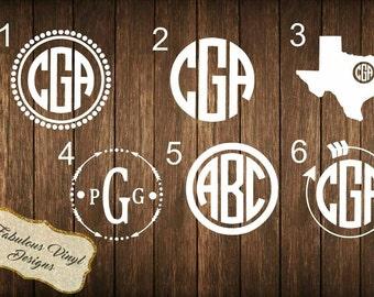 3inch Monogram Decals | Car Decals | Window Sticker