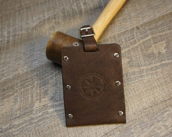 Oil-tanned Leather Luggage Tag