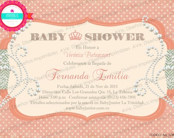 Baby Shower Invitations, Vintage Invitations, Baby Shower party