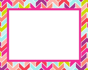 Bright Geometric Note Cards