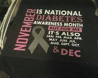 Diabetes  Awareness  T-Shirt