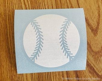 BASEBALL Vehicle Decal - Car Window Decal - Permanent Vinyl Decal - Vehicle Sticker - Baseball Decal - Baseball Sticker