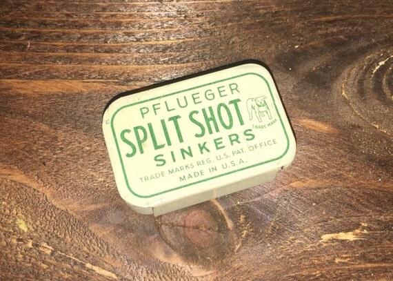 SALE 25% OFF!!!  Vintage Pflueger Split Shot Sinkers BB Gun Miniature Tin