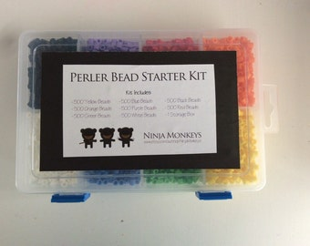 Perler Bead Starter Kit - 4000 beads, pegboards, endless possibilities