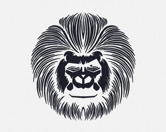Cool Gorilla Embroidery