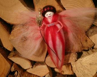 Hand Made Wool Felt Fairy. Felt Fairy Queen. Wool Fairy. made in UK