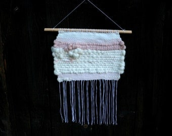Pastel Mood by woodhappen modern weaving / weaving child room decoration contemporary / weaving wool / gift for her