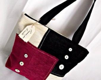 Velvet/velvet bag tote bag