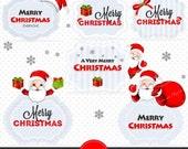 80% OFF SALE Christmas Printable, Santa Claus Clipart, Christmas Decorations, Christmas Party Decor - CA263