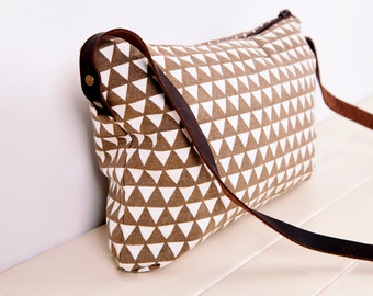 small day bag ,Messenger Bags,Canvas and Leather bag,Every day bag,Every day purse,Real leather,Clutch Purse,handles