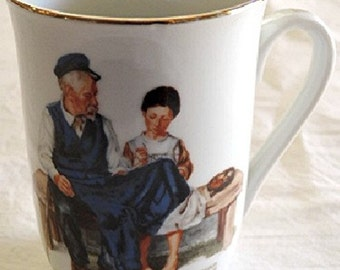 Norman Rockwell Portrait Mug LIGHTHOUSE KEEPER'S DAUGHTER Museum Collection 1982