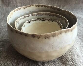 Woodland nesting bowls