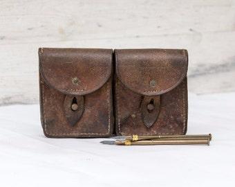 Leather Ammunition Pouch Cartridge Pouch