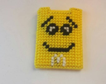 Yellow m&m gift card holder