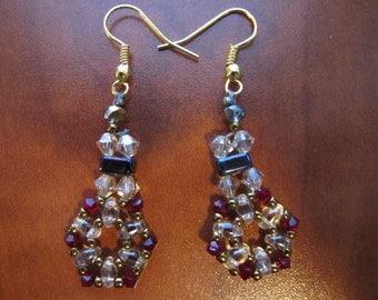 Woven Bead Earrings