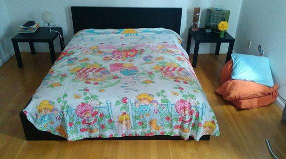Vintage Strawberry Shortcake Bed Cover/Flat Sheet
