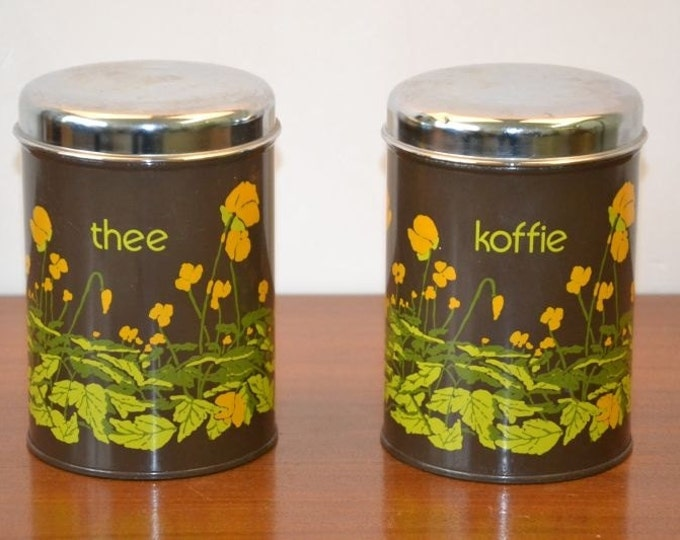 Brabantia Canisters, buttercup, tea and coffee