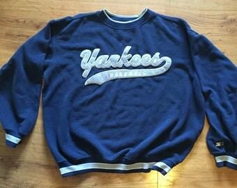 vintage starter New York Yankees sweater size large