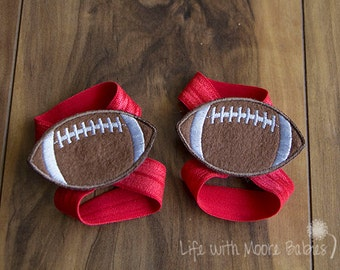 Barefoot Baby Sandal Football Patches, Interchangeable Baby Barefoot Sandals with Football Patches, Football Gift, Baby Gift, Giants, Bills