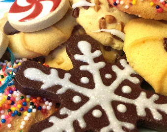 Iced Gingerbread Snowflake Clay Christmas Cookie Ornament