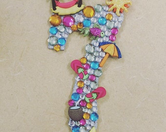 Luau cake topper. You pick number or letter.