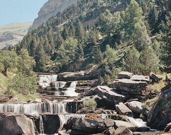 Spain // Pyrenees Waterfall