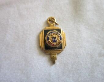 Antique Alliance High School Enameled Kinney Charm Bracelet Charm Nice